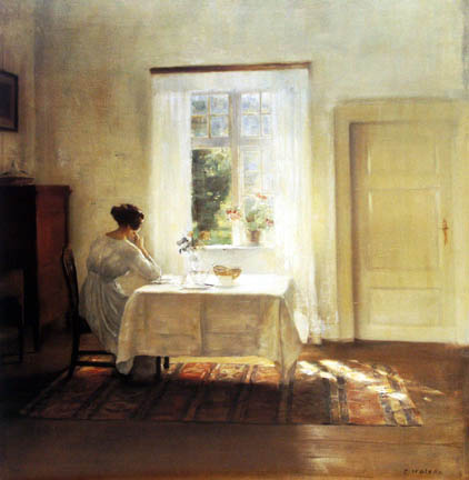 Woman at Window by Holsoe