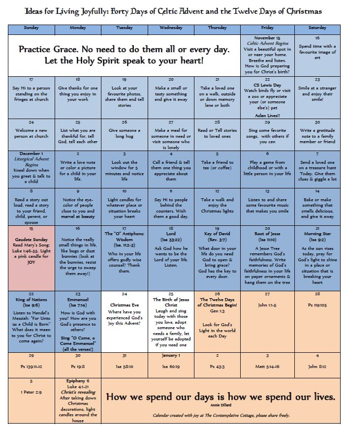 Please click on the calendar for a printable PDF version.