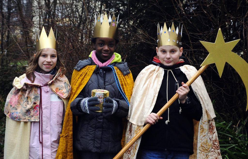 Auch diese drei Heiligen Könige sind gestern durch Sölde gezogen.