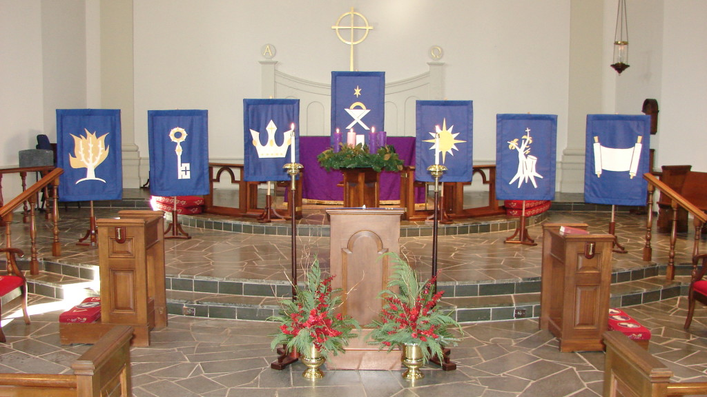 Trinity Episcopal Church, Myrtle Beach - O Antiphon Banners