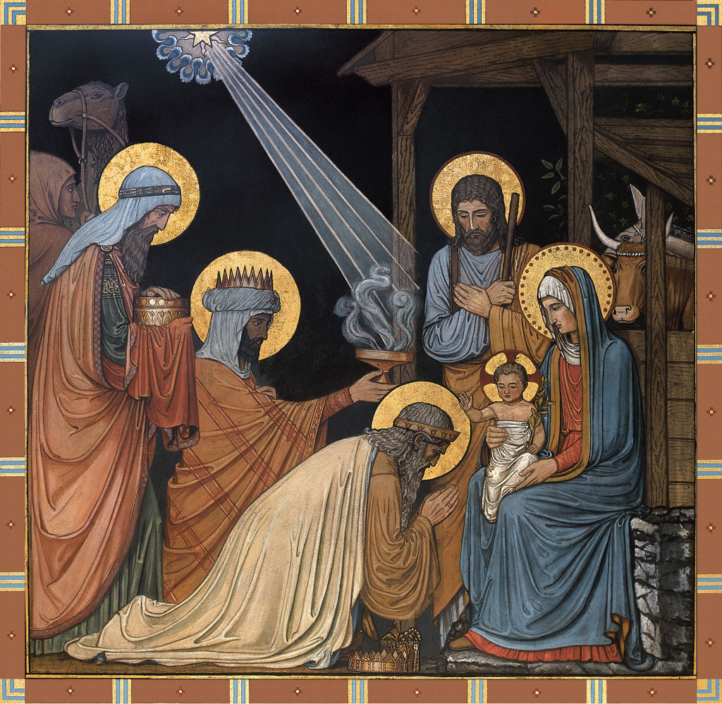 Adoration of the Magi, a Beuronese painting at Conception Abbey