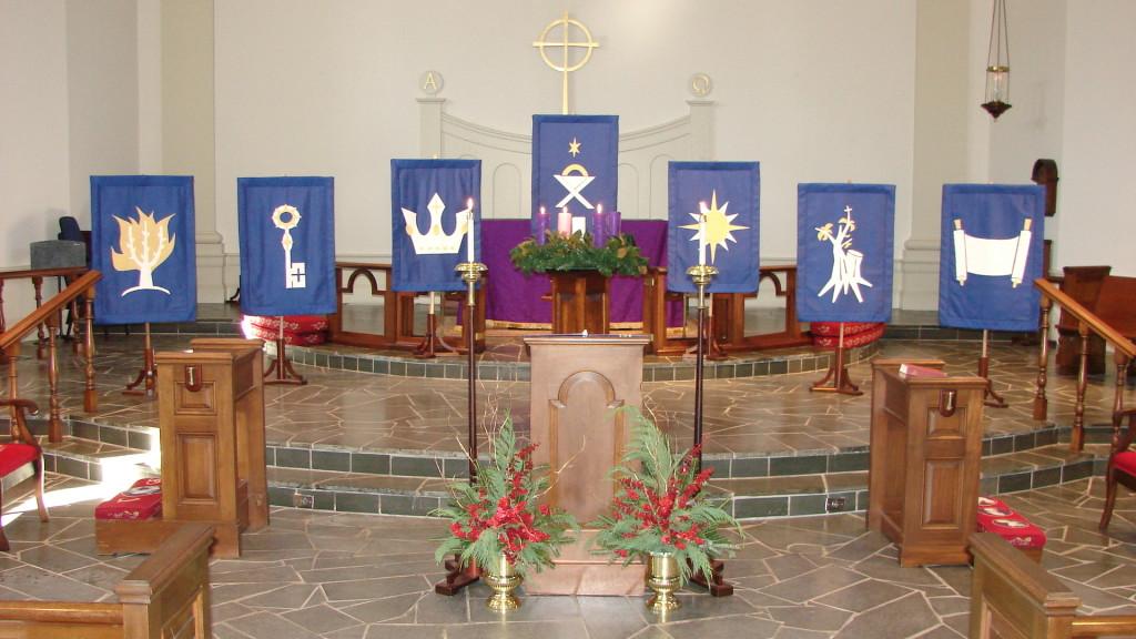 Trinity Episcopal Church, Myrtle Beach - O Antiphon Banners